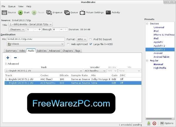 HandBrake Video Converter Activation Key
