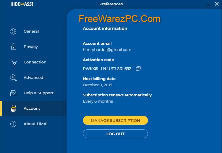 HMA Pro VPN Activation Code
